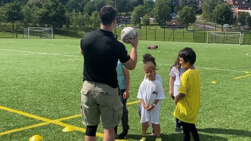 PC Ben Eynon, a youth engagement officer in Harrow, organised a summer sports camp for 50 children