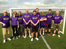 Rochdale stroke survivor walks his way to football success