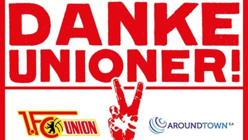 Aroundtown gratuliert dem 1. FC Union Berlin #dankeunioner (Quelle/Urheber: 1. FC Union Berlin)