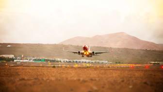 Ett bidrag på 5 miljoner Euro ska främja flygtrafiken till Kanarieöarna. Foto: Canary Islands Tourism.