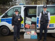 Police in Kingston have been spreading some Christmas cheer