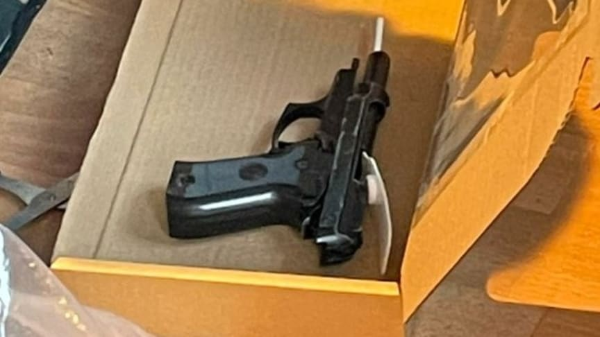[Image of recovered firearm]