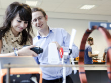 Physics student with Dr Neil Beattie