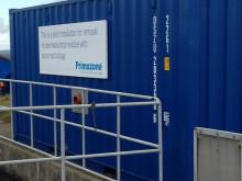 Pressvisning av testanläggning för läkemedelsrening på Torekovs reningsverk