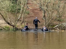 Police divers in Epping Forest