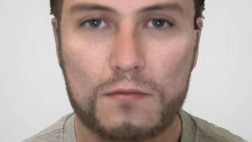 [Artist's impression of the unidentified man]