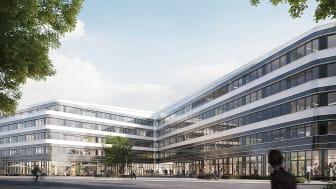 Baustart im November, Fertigstellung Ende 2023: Das WESTEND Office Bildnachweis: xoio für SRE
