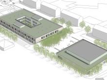 Birke-Multiplex prägt die Fassade der Vinzenz-Pallotti-Schule in Friedberg