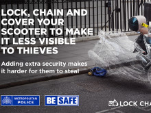 """""""LOCK, CHAIN AND COVER your scooter to make it less visible to thieves"""""""