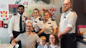 Officers reunited with baby they delivered in Southwark