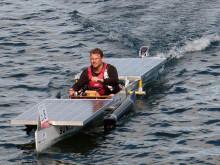 """TH-Team mit Eigenkonstruktion """"SUNcaTcHer"""" Sieger beim ersten regionalen Solarboot-Cup auf dem Finowkanal in Eberswalde"""