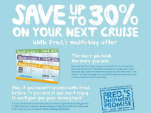 Fred. Olsen Cruise Lines launches new 'Turn of Year' sales campaign – save up to 30% and benefit from 'Fred.'s Enjoyment Promise'