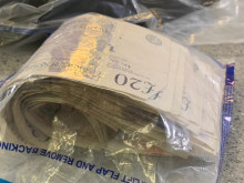 Man arrested after Violent Crime Taskforce vehicle stop - cash, drugs & knife seized
