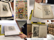 Stolen books returned to rightful owners