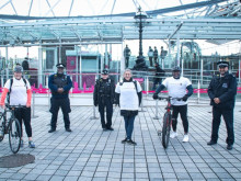 ​Charity cycle across London builds relationships between young people and police