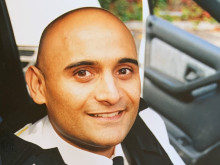 A fresh-faced Bas Javid when he was promoted to Sergeant in 1999