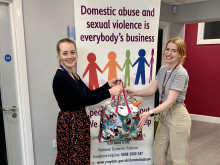 Officers donate children's clothes to support domestic abuse support centre