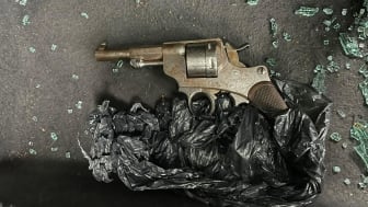 One of the weapons recovered