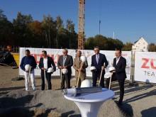 Grundsteinlegung für neue Büro- und Produktionsgebäude am Konzernstandort Markgröningen.