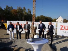 Cornerstone ceremony for the new office and production buildings at the group's Markgröningen site.