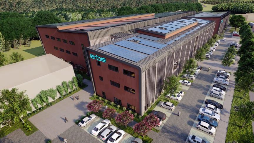 Wolfer & Goebel baut mit der ARGE-Partnerin SIEGLE+EPPLE einen neuen Industriekomplex  (Copyright: Erbe Elektromedizin und io-consultants)