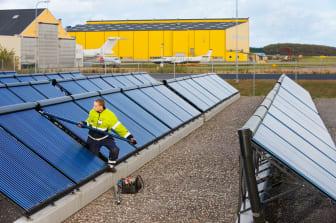 Sol- och biobränsleanläggningen på Malmö Airport