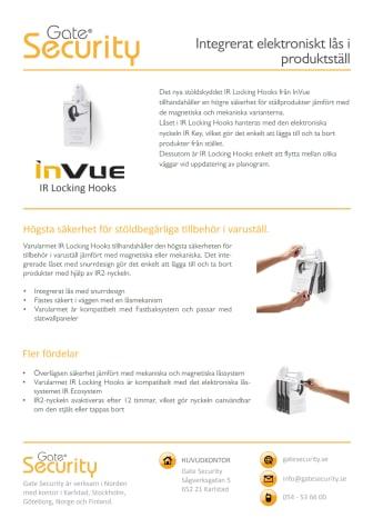 Integrerat elektroniskt lås i produktställ