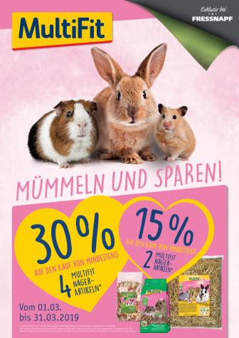 Plakat zur MultiFit Nager-Aktion im März 2019
