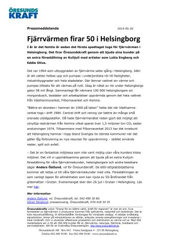 Fjärrvärmen firar 50 i Helsingborg