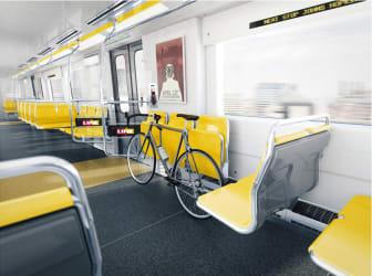 Rendering of Metro Trains proposed for Baltimore Metro