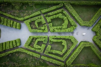 Parterr i Drottningholms slottspark