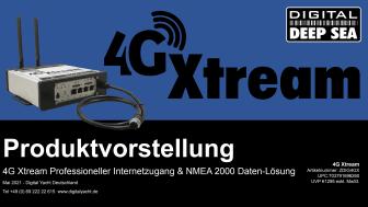 Das 4G Xtream für zuverlässigen LTE-Internetzugang auf See!