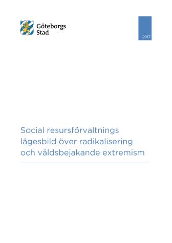 Social resursförvaltnings lägesbild över radikalisering och våldsbejakande extremism