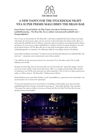 Nya Super Premium-klubben The Brass Bar