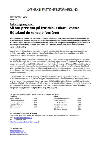 Ny kartläggning visar: Så har priserna på fritidshus ökat i Västra Götaland de senaste fem åren
