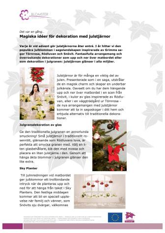 Magiska idéer för dekoration med julstjärnor