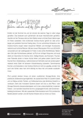 Outdoor Living mit LECHUZA - Kochen, wohnen und das Leben genießen!
