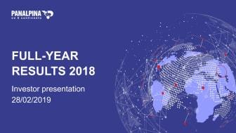 Full-Year Results 2018 – Investor Presentation