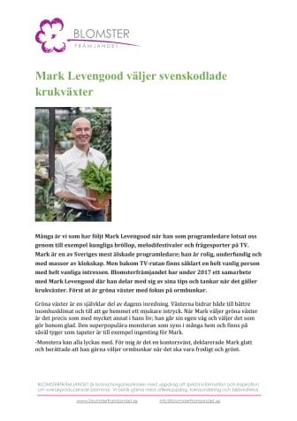 Mark Levengood väljer svenskodlade krukväxter