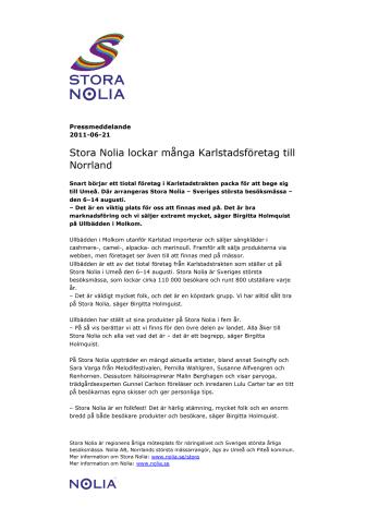 Stora Nolia lockar många Karlstadsföretag till Norrland
