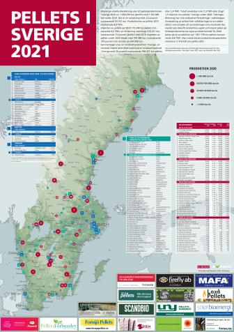 Bioenergis karta: Pellets i Sverige 2021