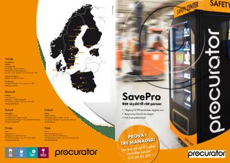 Broschyr: SavePro Vending machine, SaveRent och SaveBox