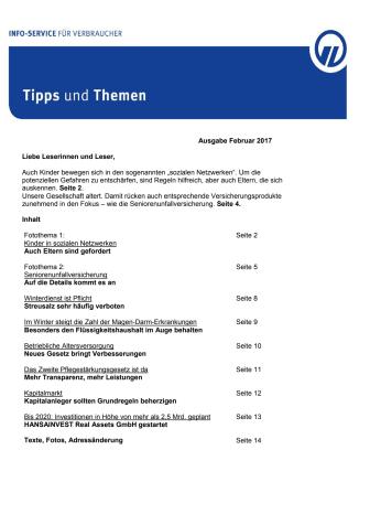 Tipps und Themen 2-2017