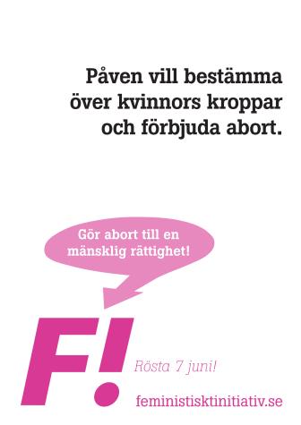 Gör abort till en mänsklig rättighet!