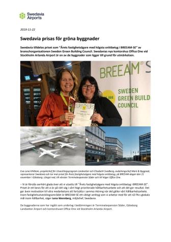Swedavia prisas för gröna byggnader