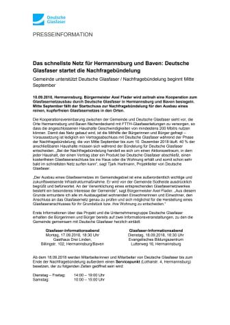 Das schnellste Netz für Hermannsburg und Baven: Deutsche Glasfaser startet die Nachfragebündelung