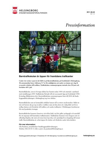 Barntrafikskolan är öppen för framtidens trafikanter