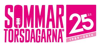Sommartorsdagarna® 25 år, logotype