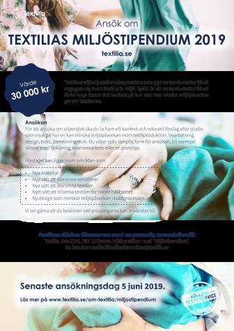 Textilia Miljöstipendium | Vi premierar miljömedvetna textilstudenter
