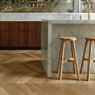 CetaBever Natuurlijk Effect Keuken Visgraat vloer